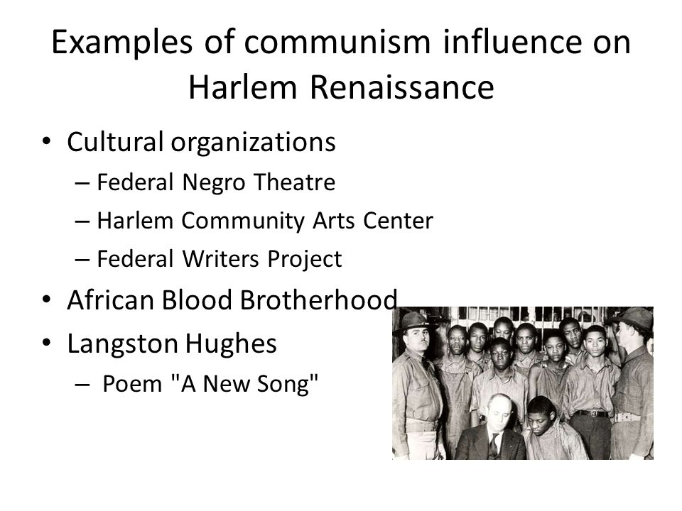 Poetry s influences on the harlem renaissance