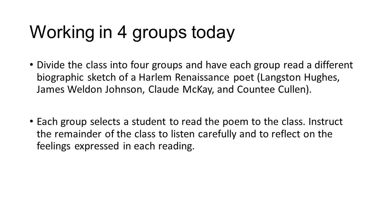 Harlem renaissance essay outline