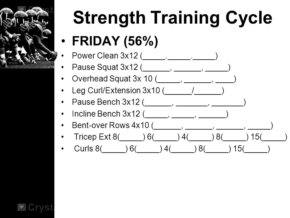 13 Strength Training Cycle