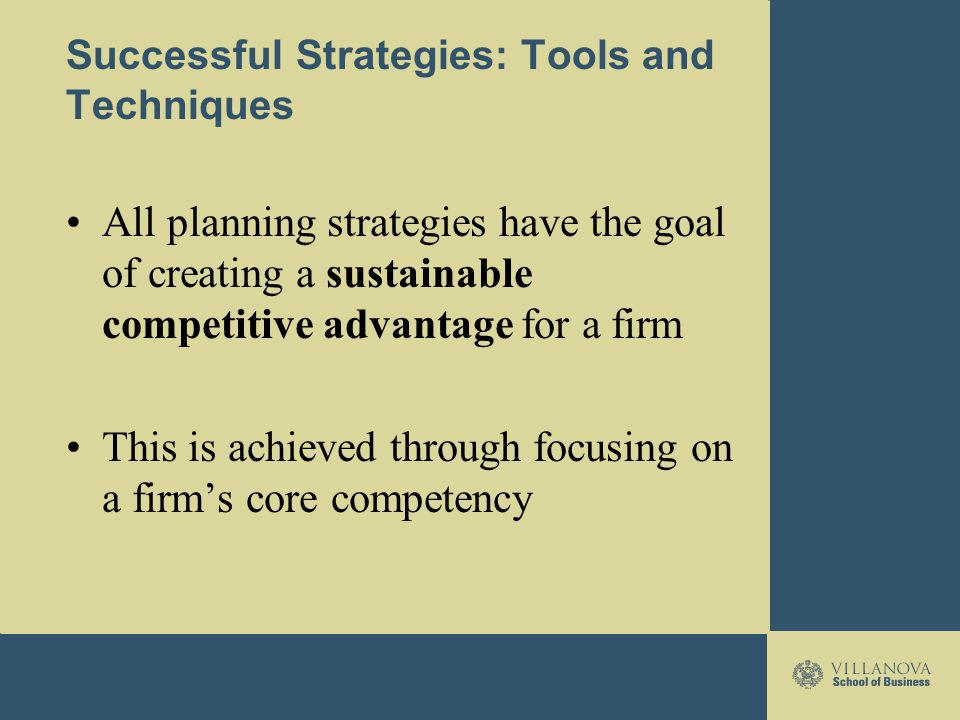 tools and techniques for successful planning Programme and project management tools and techniques topics: programme and project management and assurance  those who take the credit for success or accountability for failure or the.