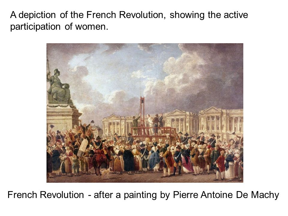 the french revolution the french revolution was a  a depiction of the french revolution showing the active participation of women