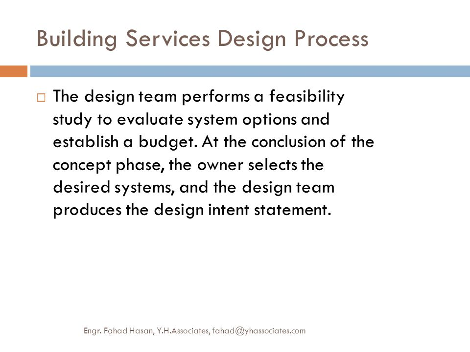 building services design process ppt video online download