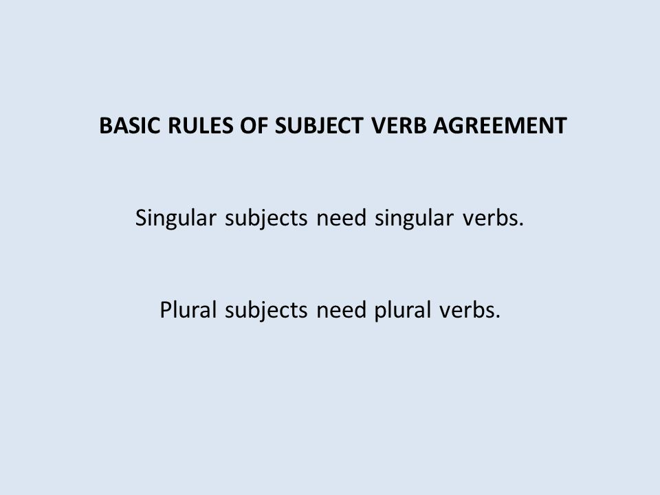 24 Rules On Subject Verb Agreement Homework Help Jqpaperbzxeul