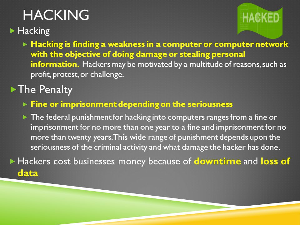 Hacking The Penalty Hacking