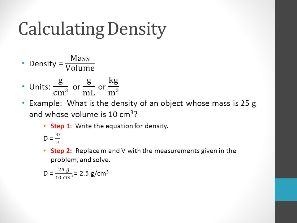 determining density Start studying mass, volume, density learn vocabulary, terms, and more with flashcards, games, and other study tools.