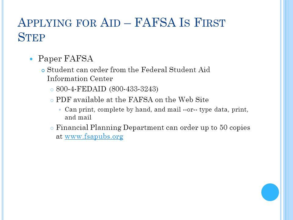 paper fafsa