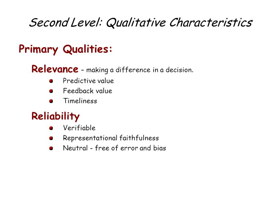 What Are the Qualitative Characteristics of Accounting Information?