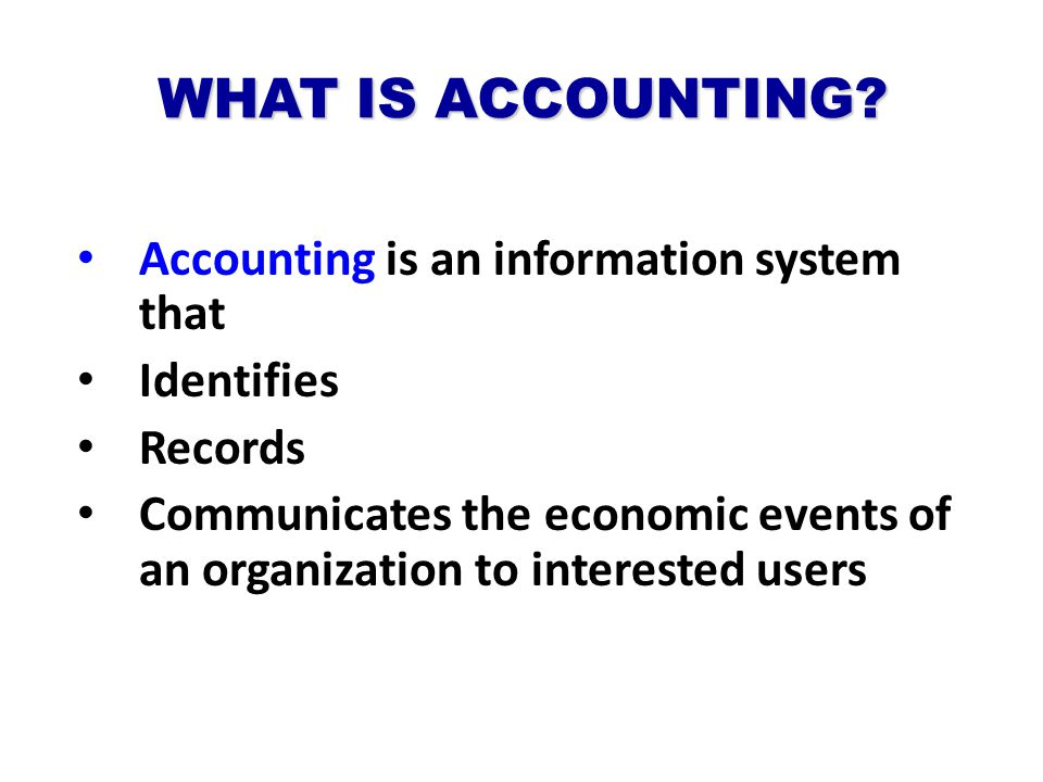 What the accounting principles