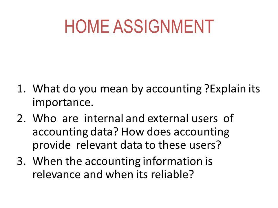 internal and external users of accounting Unlike financial accounting which is designed for external users, managerial  accounting is focused on internal managers managerial accounting is designed  to.