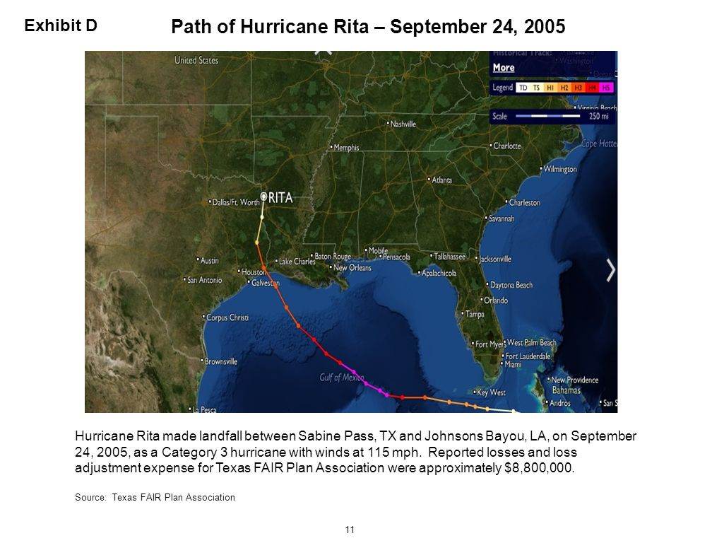 Path of Hurricane Rita – September 24, 2005