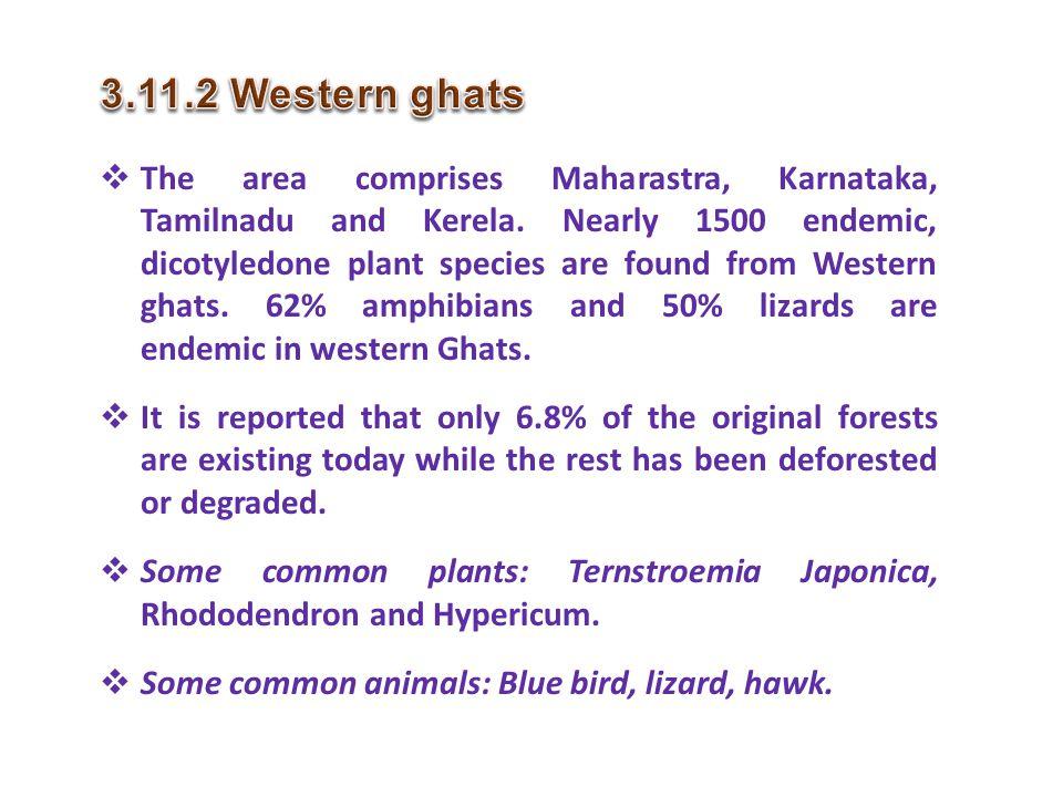3.11.2 Western ghats