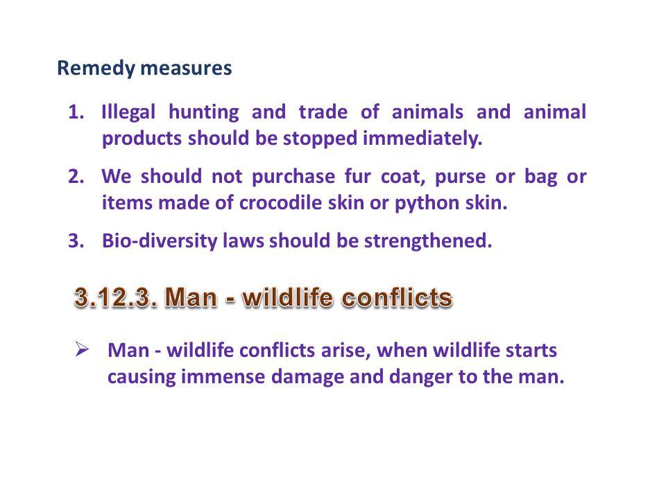 3.12.3. Man - wildlife conflicts
