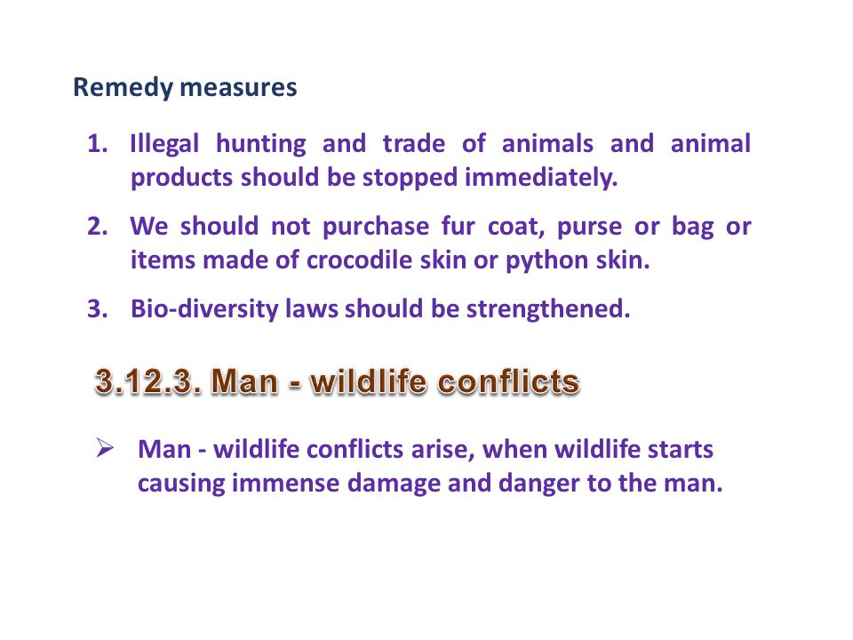 Man - wildlife conflicts