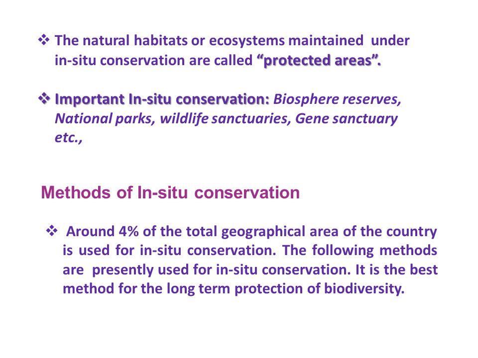 Methods of In-situ conservation