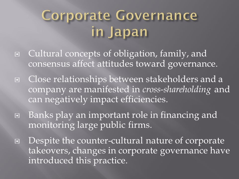 comparison of corporate governance pratice in What are corporate governance codes of best practice - why are corporate governance codes useful volume 1 annexes: - further reading - example of laws that affect corporate directors - the german scorecard approach - summary of general motors' board guidelines - comparison of selected corporate governance.