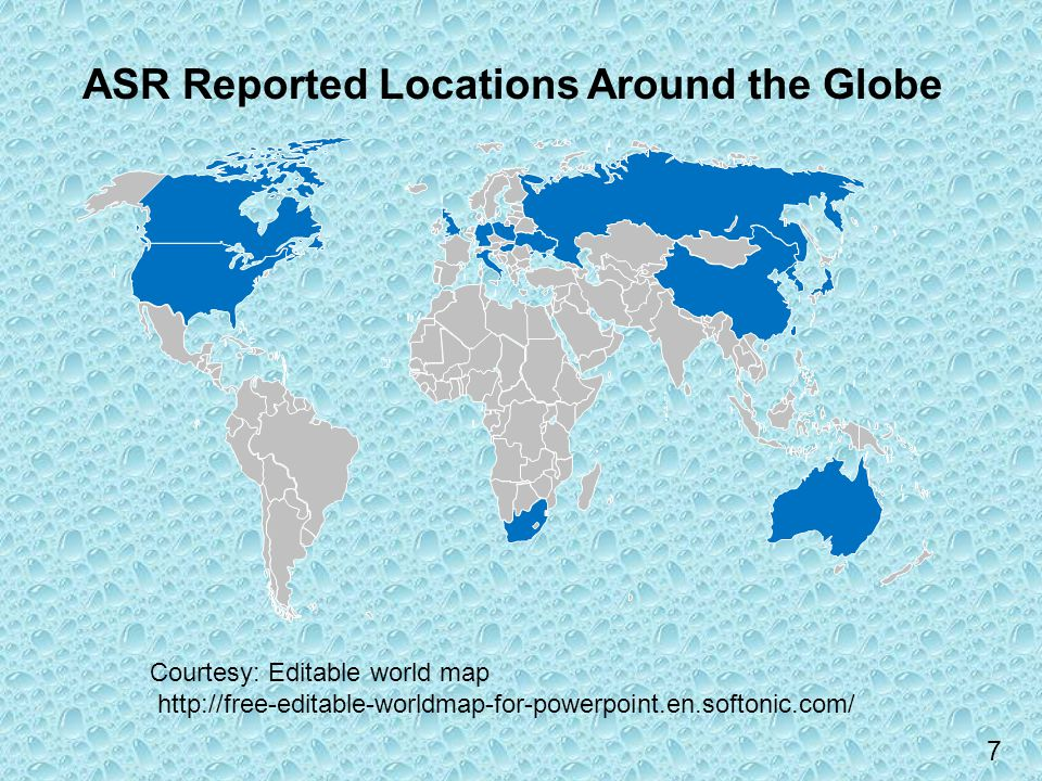Fhwa baa objective 2 studies latifee math wingard and rangaraju 7 asr reported locations around the globe courtesy editable world map gumiabroncs Image collections
