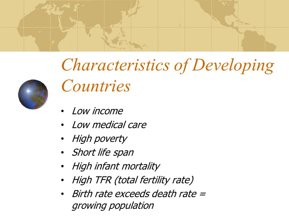 low health expectancy in developing countries The major causes of death and disease in developing countries life expectancy at birth, and mortality rate for children health in developing countries.