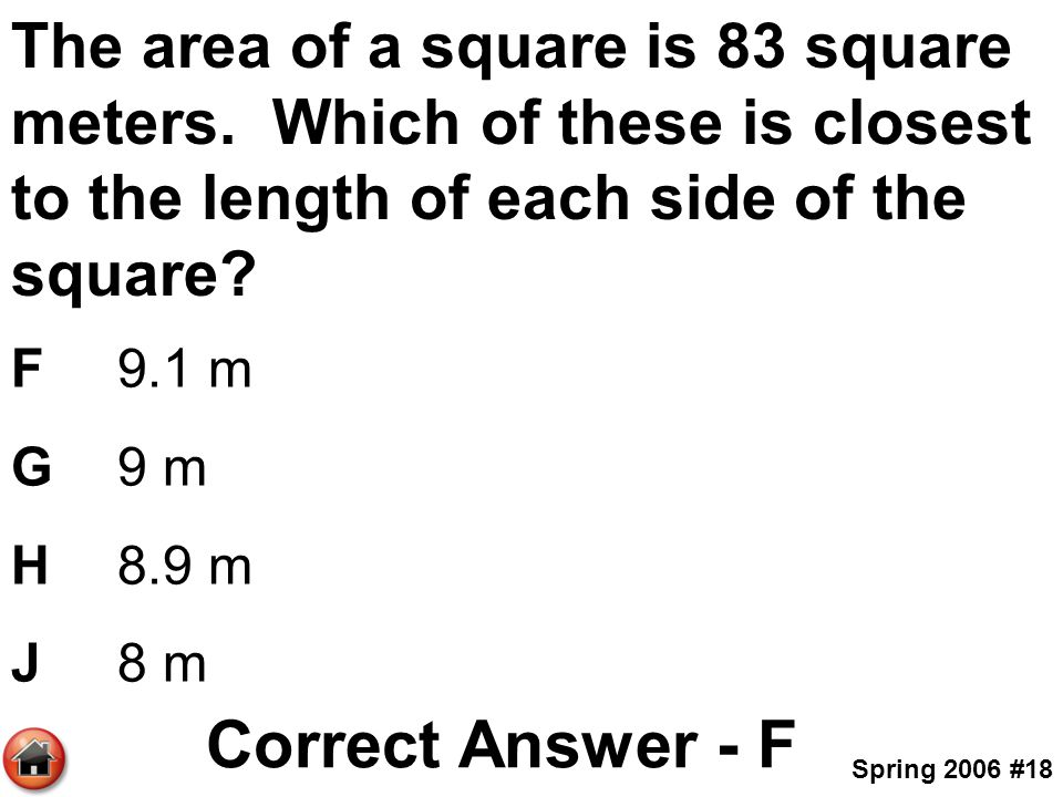 how to find area in square meters