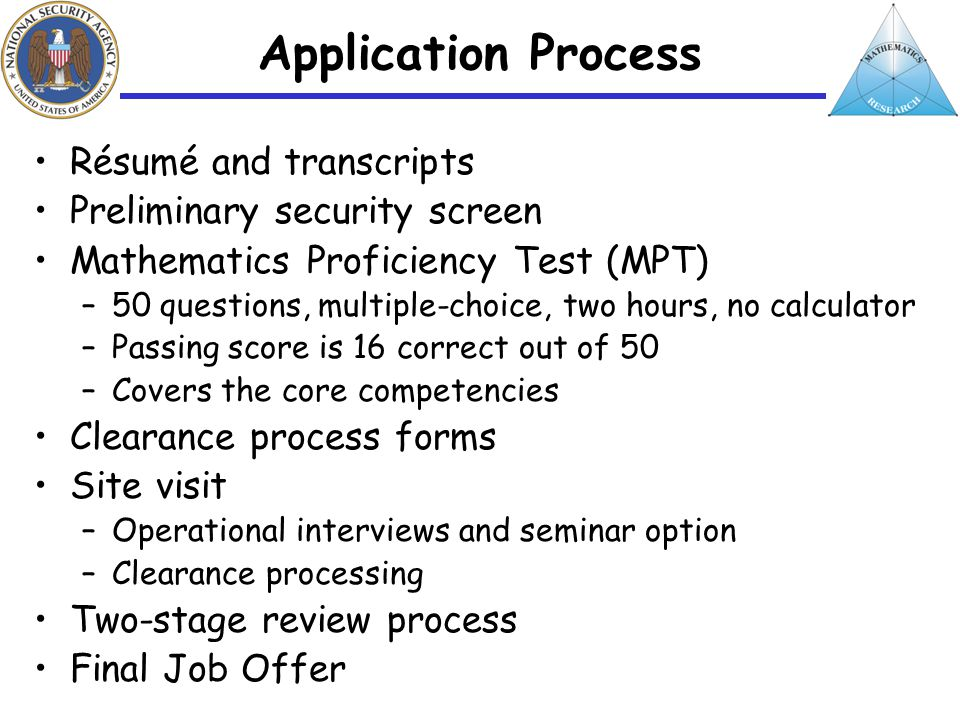 erin e corman national security agency mathematics hiring manager