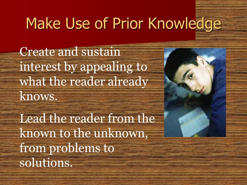 Make Use of Prior Knowledge