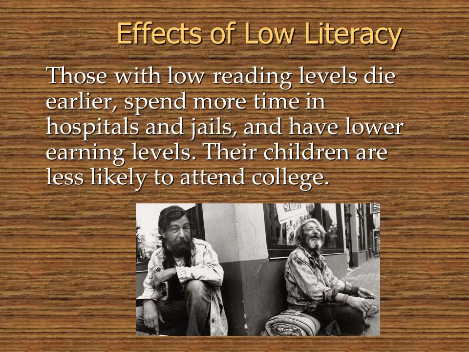 Effects of Low Literacy