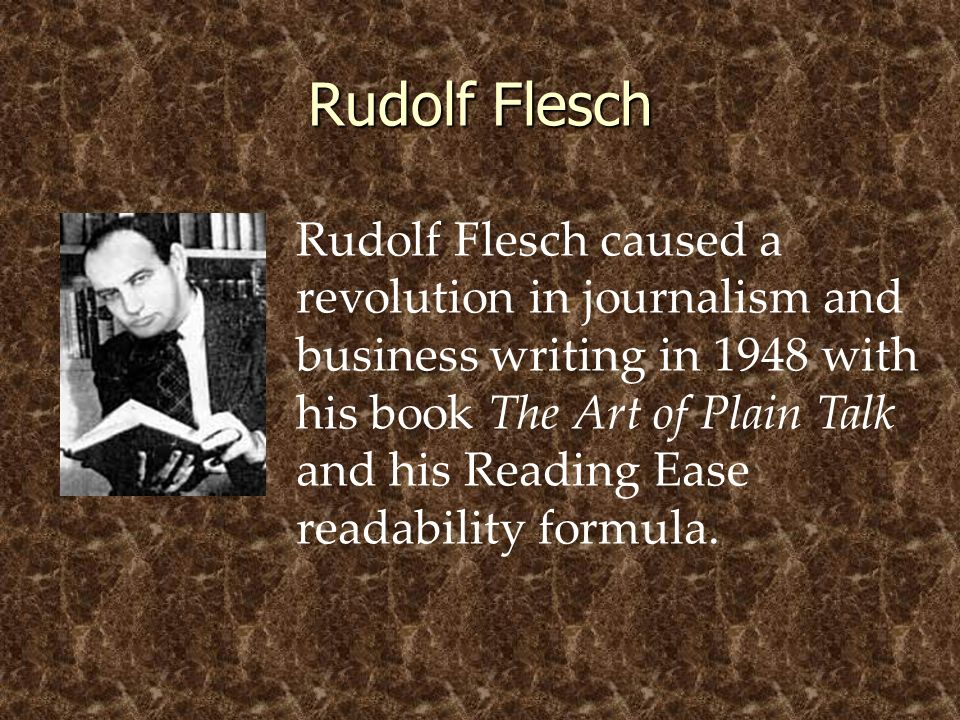 © 2005 William H. DuBay Rudolf Flesch.
