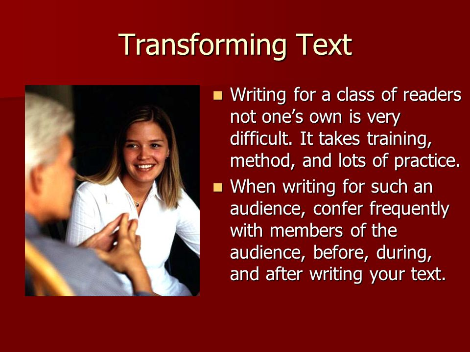 © 2005 William H. DuBay Transforming Text.
