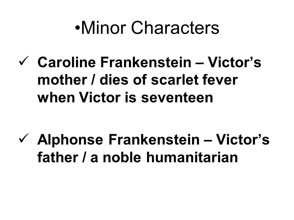 victors mother dies essay When caroline frankenstein dies, elizabeth becomes mother to the  and william dies in her care the mother is also absent in the  in her essay on the.