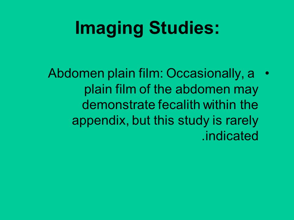 Imaging Studies: