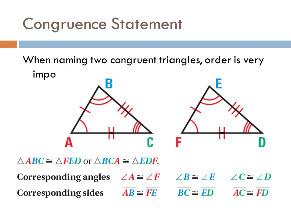 How To Write A Congruence Statement For Polygons For Kids