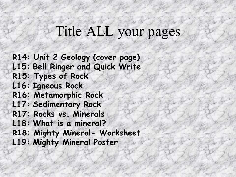 Rocks and the Rock Cycle ppt video online download – Rocks and Minerals Worksheet