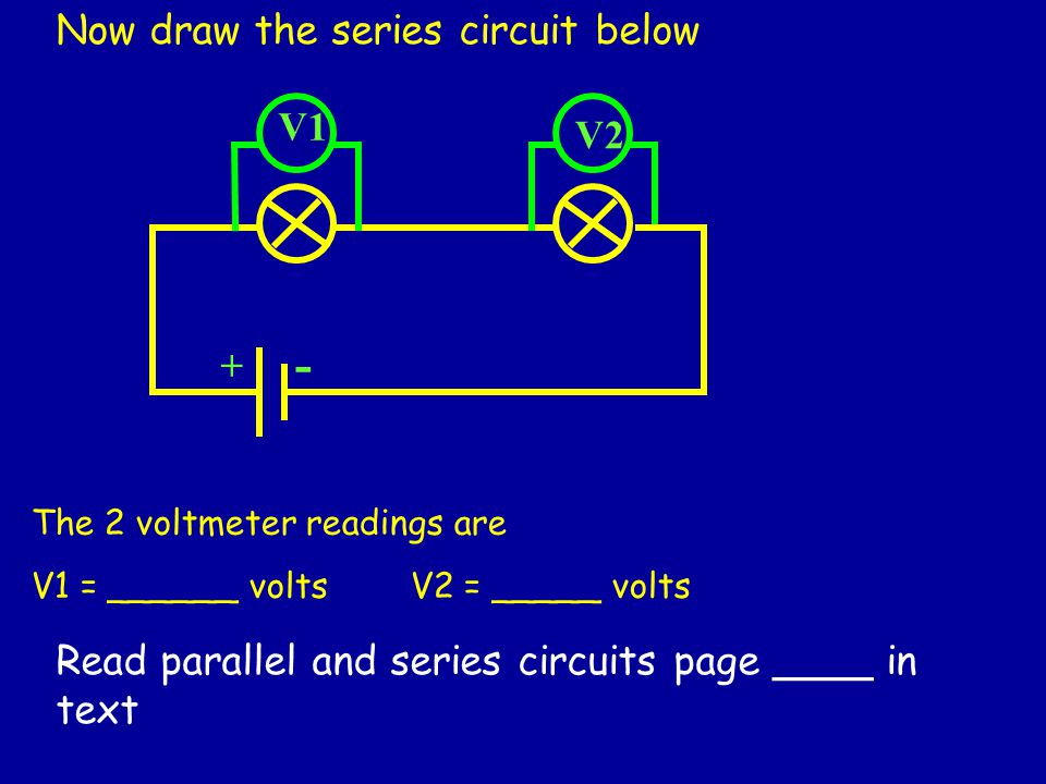 Voltmeter In Parallel : Electricity and ohm s law ppt video online download