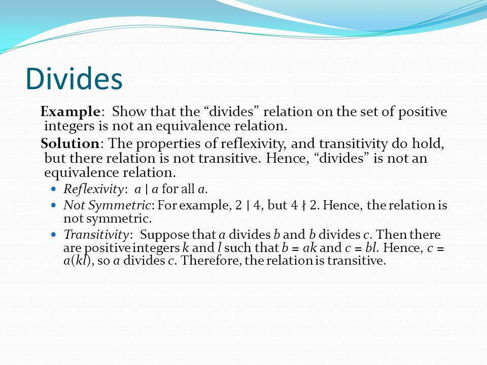 equivalence relation examples and solutions pdf