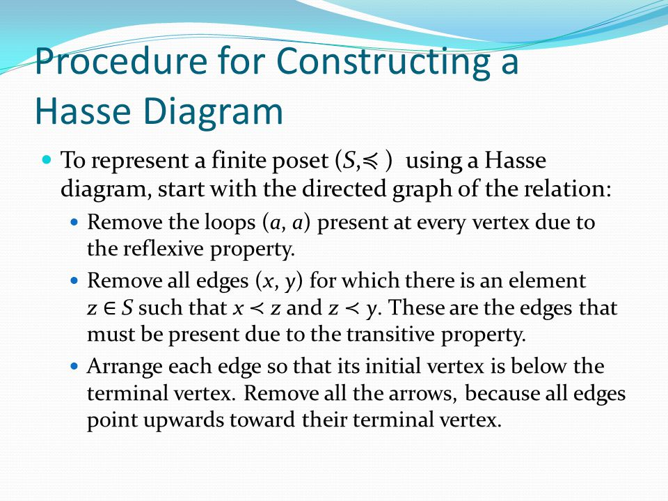 how to draw hasse diagram of a poset