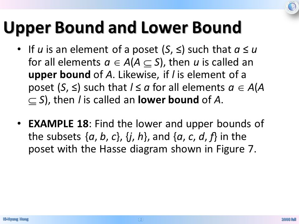 Relations 3 rosen 6th ed ch fall ppt video online download upper bound and lower bound ccuart Choice Image