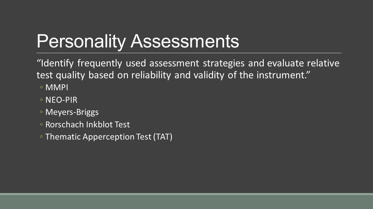 thematic apperception test reliability validity Psychological assessments shown to be as valid as medical tests meyer and his colleagues drew comparisons between medical test validity and psychological test validity the thematic apperception test.