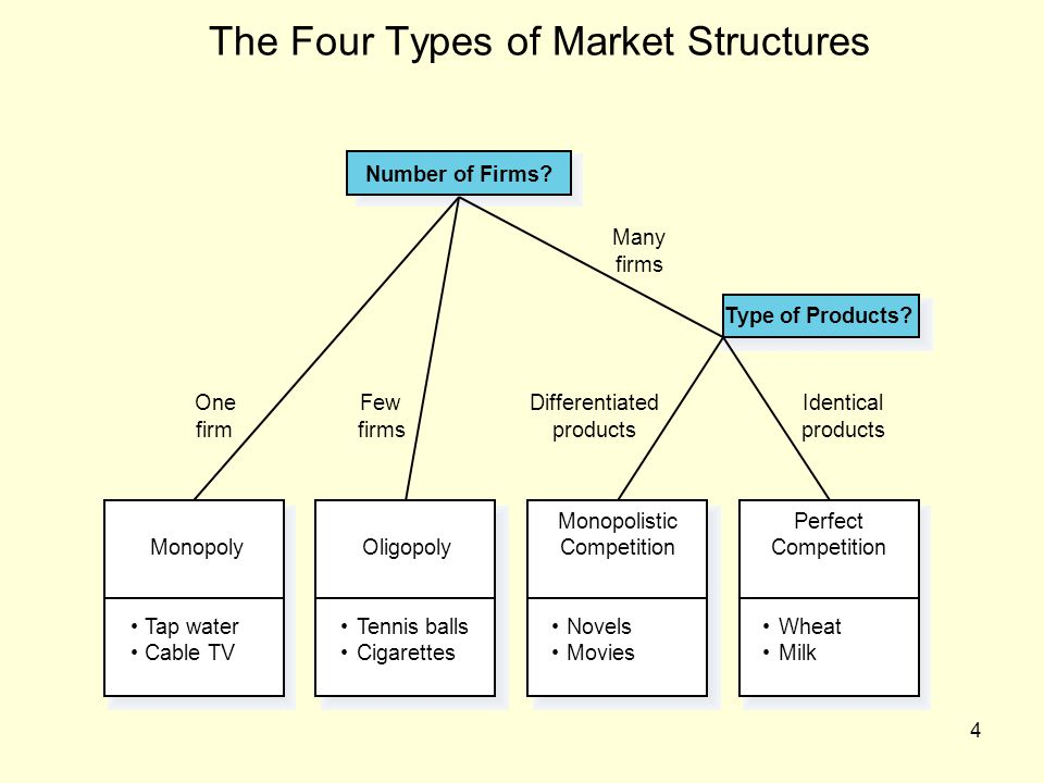 The Four Types of Market Structures