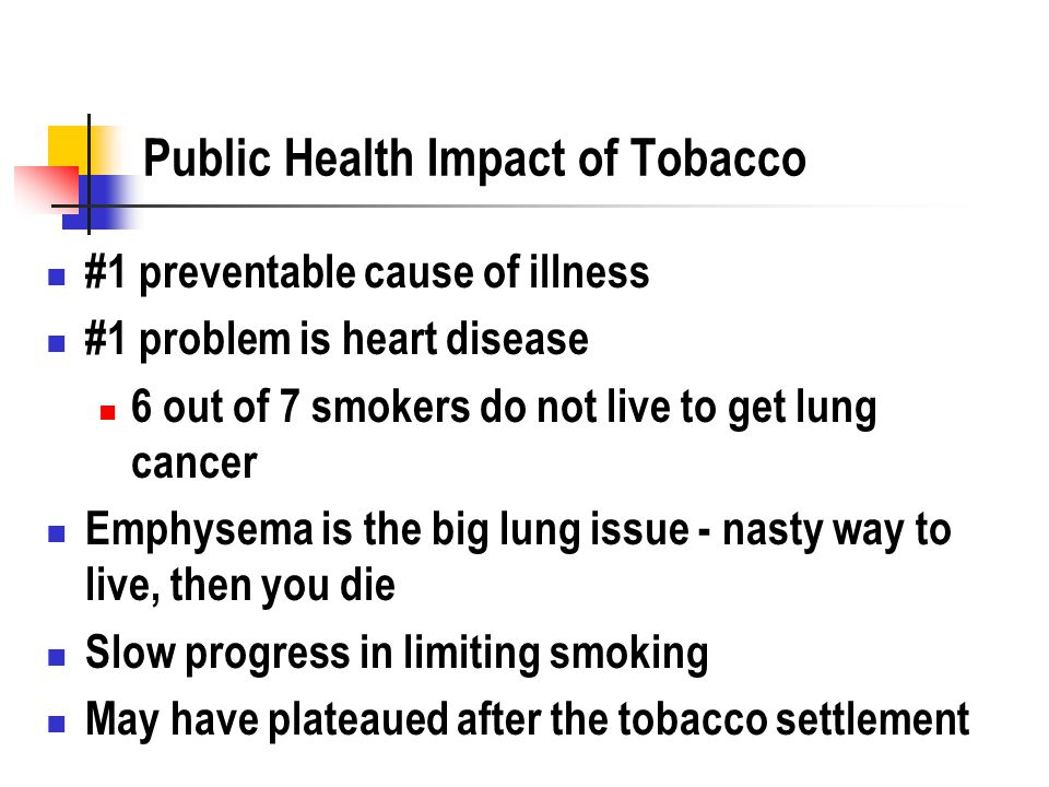 public health issue smoking When lissa rankin, md researched what optimizes the health of the body and what predisposes the body to illness, she was surprised by what she found.