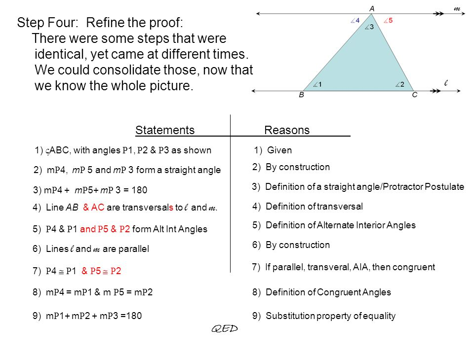 Triangle Angle Sum Theorem Proof Ppt Download