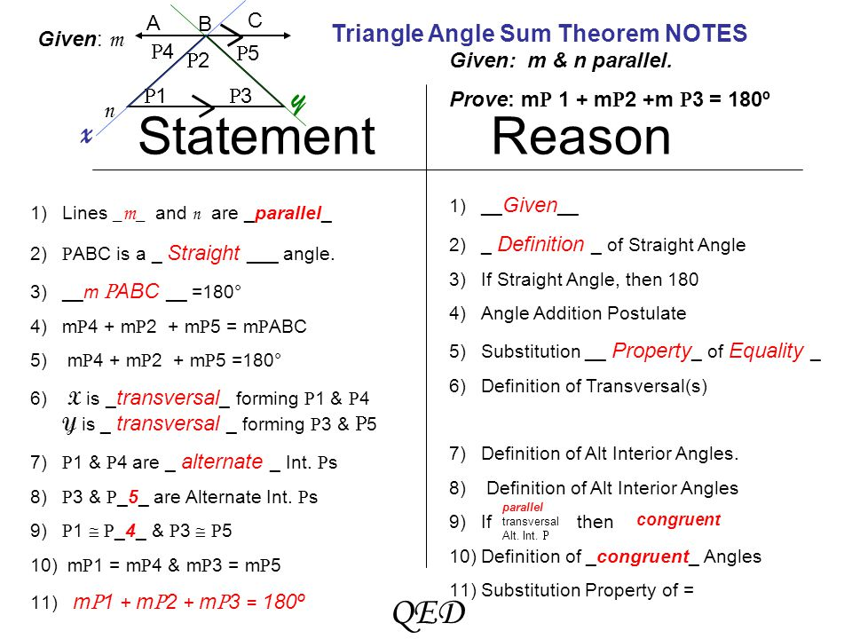 triangle angle sum theorem proof ppt download. Black Bedroom Furniture Sets. Home Design Ideas