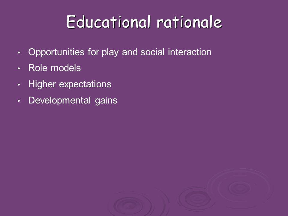 pedagogical rationale Transcript of my pedagogical rationale for literacy education support (emotional and educational) and creative freedom the development of my ethos and approach to education has been influenced through professional experience, work, university & personal development/ reflection.