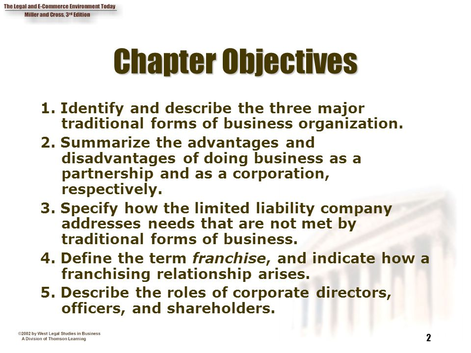 Chapter 16 Business Organizations - ppt video online download