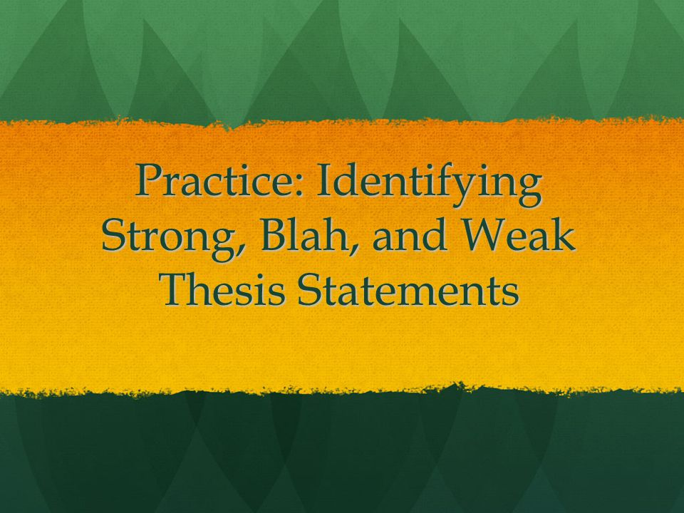 recognizing thesis statements quiz How to write a thesis statement a thesis statement expresses the central argument or claim of your essay learn more in this pamphlet html pdf video.