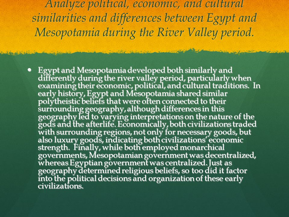 Differences Between Mesopotamia & Ancient Egypt