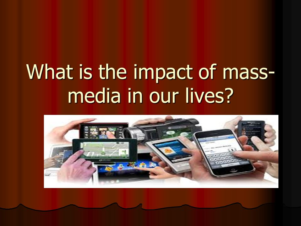 the impact of mass media on politics in the united states