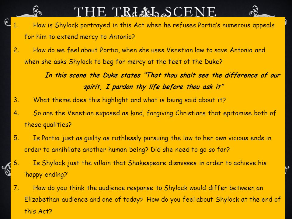 shylock essays These two men are shylock, a jew, and antonio, a christian antonio comes into the play as a pessimistic, miserable character literary essay: merchant of venice.