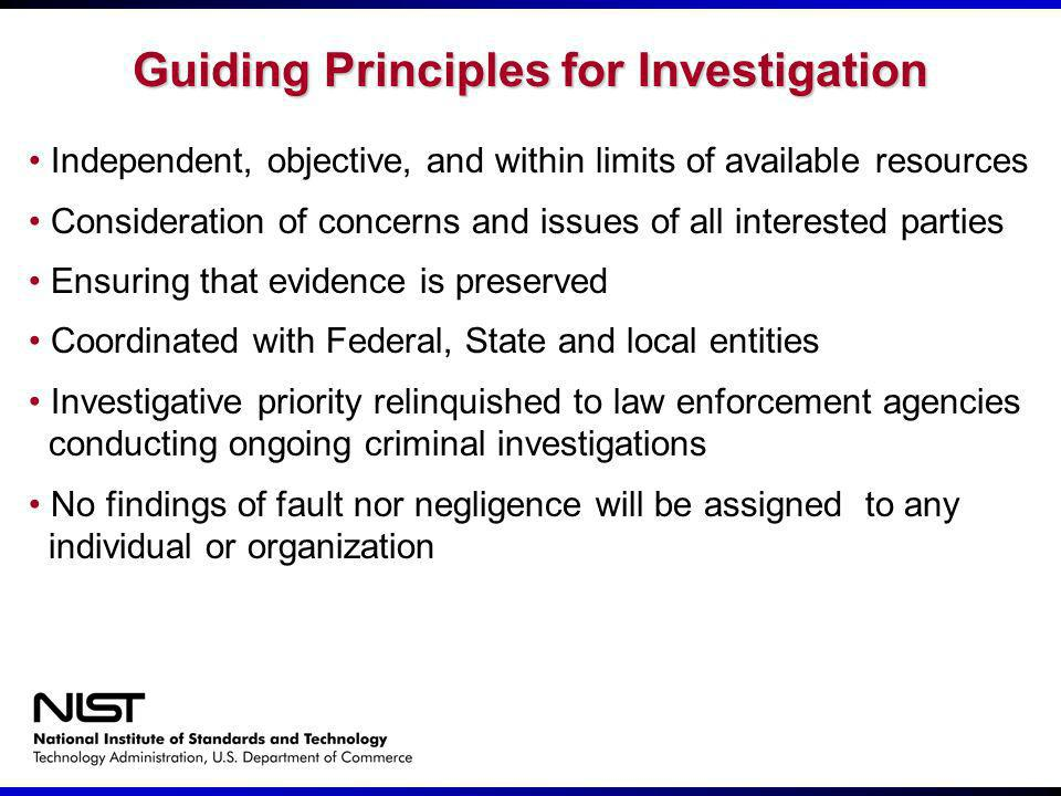 Guiding Principles for Investigation