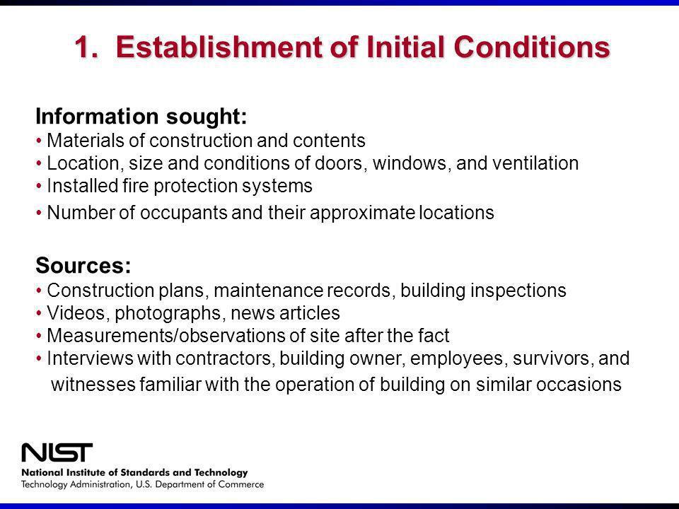 1. Establishment of Initial Conditions