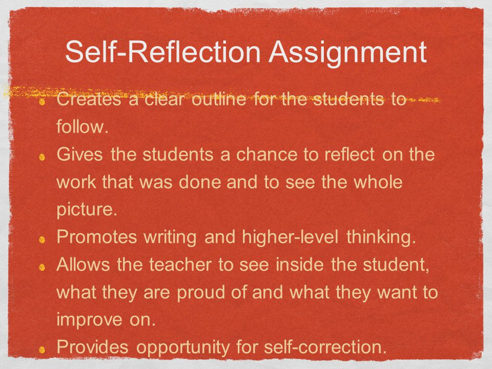Self-Reflection Assignment