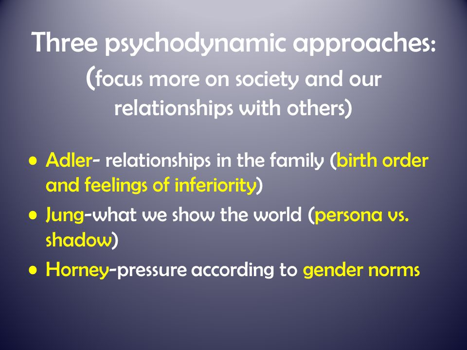 history of the psychodynamic approach Approaches to psychology psychodynamic psychologists assume that our behaviour is determined by unconscious forces of which we are unaware says or does in therapy (including free association and dream descriptions) the material is stage origin of libido and sources of pleasure key events and influences.